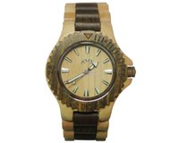Wholesale Mens Wooden Watches wood watch woodworks watches woodworking man watches Yellow Brown tone Round White Dial Wooden Watches Mm W00016