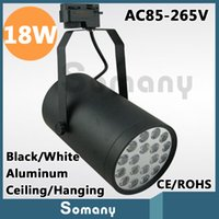 Wholesale 18W High Power Light Fixtures Deco Warm White Cool White Black White AC85 V Ceiling Hanging Track Lights Led Track Lamps