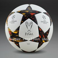 Wholesale 2015 Champion league soccer ball Anti slip football High Quality PU size ball