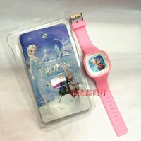 ice watches - 50pcs Frozen watches High grade packaging Snow and ice colors girl watches free shpping EMS Gifts for children