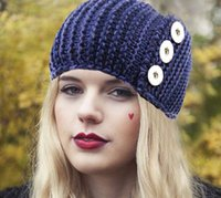 band fitted hats - Newest Bohemia Wool snap button Hair band OEM ODM FJ166 fit mm mm snaps dress decoration DIY for women