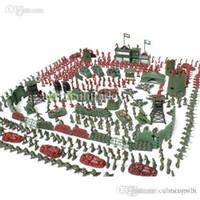 achat en gros de figures militaires en plastique de gros-Gros-500pcs / set Battlefield Simulation figurines en plastique Toy Soldiers Soldier Jouets Modèle pour les fans militaires enfants Livraison gratuite