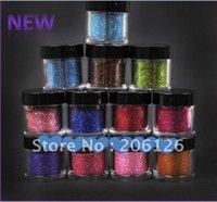 Wholesale Color Jumbo size Metal Fine Glitter Nail Art Kit Acrylic UV Powder tips