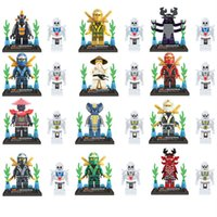 action ninja - 24pcs Ninja Ninjago Minifigures Action Figures Building Blocks Bricks Model LELE legoeddis toys