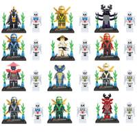 Wholesale 24pcs Ninja Ninjago Minifigures Action Figures Building Blocks Bricks Model LELE legoeddis toys