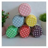 Wholesale Free Shiping Polka Dot roll color Cupcake Liners Baking Paper Cups Cupcake Muffin Case Cake Molds Base mm