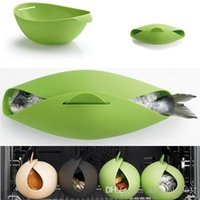 Wholesale Fish Kettle Steamer Poacher Cooker Food Vegetable Bowl Basket Kitchen Cooking Tools Accessories Supplies TY987 buffet dishes tongs tong
