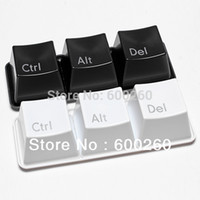 Wholesale Ctrl ALT DEL Keyboard Key Coffee Tea Mug Cup Container Choose Black White Color per set include ctrl del alt pieces