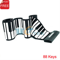 Wholesale Electronic Piano Keyboard Keys USB Rubberized Flexible Roll up Roll up Singapore Post