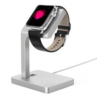 Wholesale Aluminum alloy Watch charger cradle Holder Stand For Apple watch Silver Portable Charger