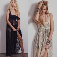 Europe station 2016 nouvelles femmes Free People breloques larges robe sexy robe de dentelle longue section