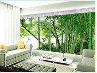 bamboo forest wallpaper - Custom photo wallpaper Large D sofa TV background wallpaper mural wall Bamboo forest d mural wallpaper