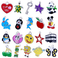 Wholesale Stainless Steel Cartoon Beads for kids DIY Charms key Rings for Keychians or Bracelets Gift for Children Cartoon Unique Unique Keychains