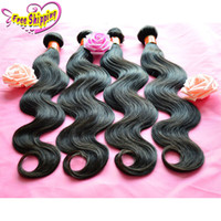 Wholesale Indian Virgin Hair Body Wave Wavy Human Hair Weaves Bundles Cheap Brazilian Cambodian Malaysian Peruvian Remy Hair Extensions Natural Black