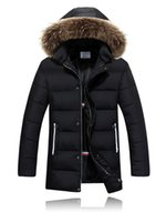 Cheap Man Canada Winter Jacket Warm Hooded Thicken Plus Size Fur Collar Down Puffer Blouson Long Parka Hombre Casual Long Overcoat Outwear Coat