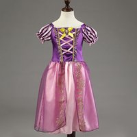 Wholesale EMS Freeshipping New High quality halloween costumes dress Princesses Rapunzel cosplay child CX1037