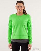 running wear - Run Warm Up Crew women running Tshirt long shirt sports women wear Outdoor Apparel Fitness Wear jogging clothing