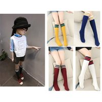 Wholesale 3 Pair Kids Girls Cotton Stripe Socks Cute Knee Hosiery In tube sock Fit Y