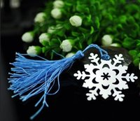 Wholesale Snowflake Metal Silver Bookmark with tassel Wedding giveaways party supplies By Fedex DHL c