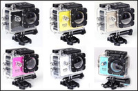 Wholesale Waterproof Inch LCD Screen SJ4000 style P Full HD HDMI Camcorders SJcam Helmet Sport DV M Action Camera