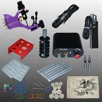 beauty supplies equipment - Professional Set V Complete Equipment Tattoo Machine Gun Power Supply Cord Kit Body Beauty DIY Tools