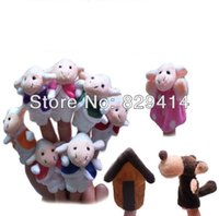 animals goats - Animal Shaped Cloth Finger Puppets for Baby Learning amp Education The Wolf and The Seven Little Goats