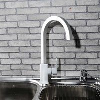 alumina water - Matte finished kitchen faucet Square Vessel Square bottom kitchen sink Mixer tap Space Alumina Swivel kitchen water faucet K