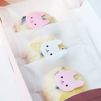 Wholesale 1800pcs color Rabbit Sticker Adhesive Paper Wedding Seal Label For Bakery Gift Bag Box Decoration