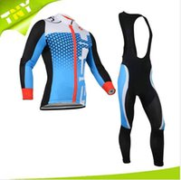 Wholesale 2014 Brand New Castelli Cycling Jerseys Set Winter Thermal Fleece Long Sleeve Riding Clothes Top Elastic Outdoor Gears Bike Wears Compressed