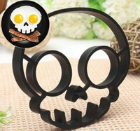 Wholesale Cute Silicone Skull Owl Egg Fried Shaped Mould Shaper Ring Kitchen Cooking Tool M7V