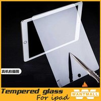 Wholesale 0 mm H HD Tempered Toughened Glass Film Screen Protector For iPad ipad mini Ipad air