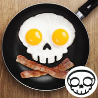 frame moulding - Funny Side Up Skull Silicone Egg Art Mould Halloween Breakfast Mold Frame