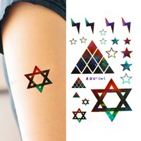 better bodies design - Better New Design Fashion Temporary Tattoo Stickers Temporary Body Art Waterproof Geometry Tattoo Pattern