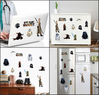 Wholesale Hot sales STAR WARS All series WALL ART STICKER wall Decal DIY Home Decoration Wall Mural Removable Sticker Fridge magnet