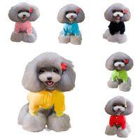 Wholesale Cute Pet Dog Hooded Apparel Soft Warm Winter Wear Solid Color Cotton Puppy Clothes Size S M L XL XXL EPH