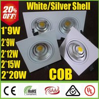 Wholesale Hot Sale White Silver W W W W W Dimmable LED COB Downlights Warm Cool Natural White Fixture Recessed Ceiling Down Lights Lamps