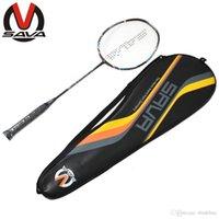 Wholesale SAVA High Quality End Ultralight Badminton Racket Speed Racquet Carbon Fiber Single Racket For Man Women Sports Equipment