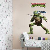 Wholesale 130pcs High quality cm Child Teenage Mutant Ninja Turtles bedroom setting wall stickers creative home decoration HX