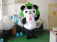 beijing mascots - Professional beijing panda mascot Fancy Dress Costume Adult Size EPE Suit mascot costume