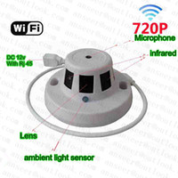 Wholesale 2015 Hot Sale H ONVIF P Ip Camera Wireless Smoke Detector Mini Wifi Hidden Ip Camera With Night Vision and Audio Support Phone Watch