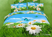 Wholesale Luxury Oil Painting Cotton D King Size Flower Bedding Bed Set Duvet Covers FS