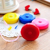 Wholesale 12 MIX Color New Retractable Ruler Tape Measure inch Sewing Cloth Dieting Tailor M