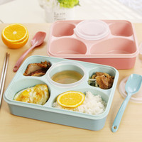 Wholesale Magic Kitchen Sealed Microwaveable Lunch box plus bento box For kids children School Office with simplicity fresh style FG09226