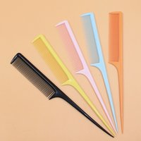 Wholesale ZC2822 candy colors pointed tail comb hair comb hair disk hair fight anti static plastic comb Taobao hot pick