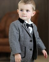 Wholesale Lovely Baby boy of Spring and autumn more children s formal wear three piece suit baby clothing custom made for many occasions