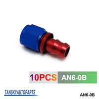 barb fittings - TANSKY High Quality AN6 AN6 Push On Fuel Hose End Car Fittings to Barb Adaptor Straight AN6 B