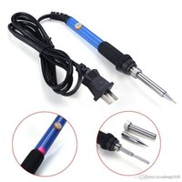 Wholesale Pro W V Temperature Adjustable Electric Welding Solder Soldering Iron Handle Heat Pencil Tool A3