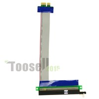 Wholesale freeshipping Flexible PCI Express x1TO x16 Flat Cable Extender Riser Card Pcie x to x cable For micro case PC