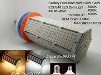LED arrival airport - 15pcs AC V E40 W Led Industrial Light SMD Led Warehouse Lamp High Bay Corn Outdoor Lamp New Arrival
