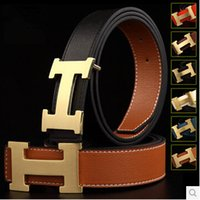 european fashion for men - H belt luxury fashion designer series smooth Buckle mens belts luxury leather belt European style belts for Men